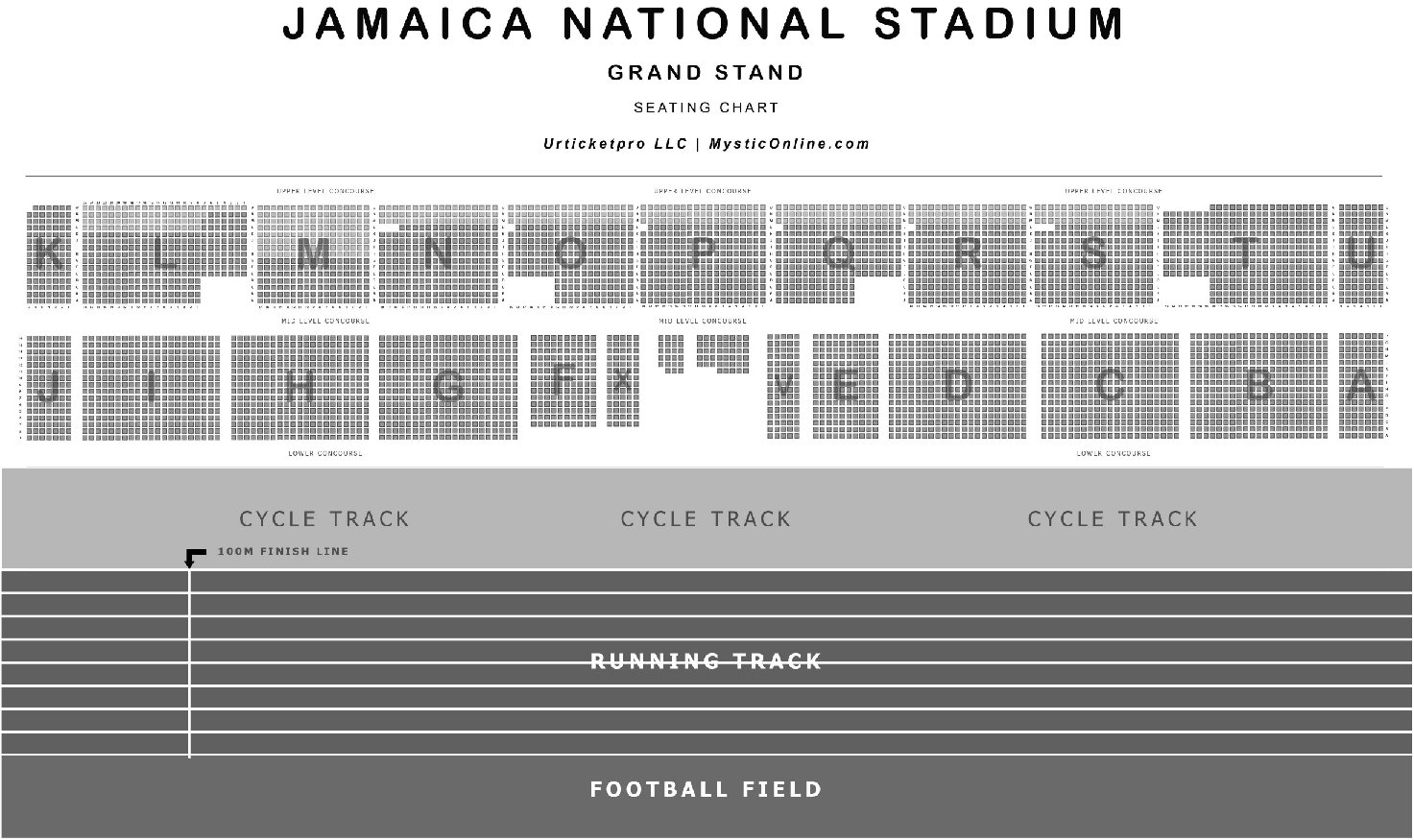 Jamaica National Stadium - Grandstand Seating Reference